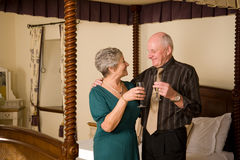 Senior couple celebrating Stock Images
