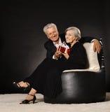 Senior couple celebrating holiday Stock Image