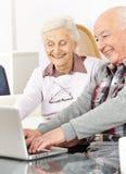 Senior couple chatting Stock Image