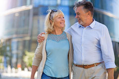 Senior Couple in the City royalty free stock photo