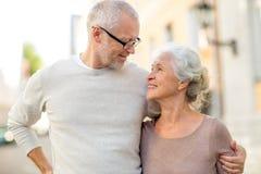 Senior couple on city street Stock Image