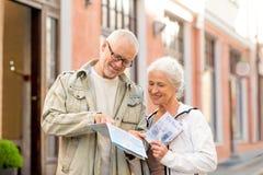 Senior couple on city street Stock Photography