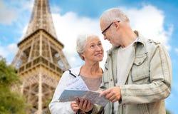 Senior couple on city street Stock Photo