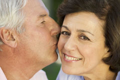 A senior couple, close-up Stock Photos