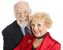 Senior Couple Closeup Portrait Royalty Free Stock Images