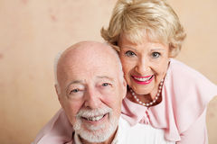 Senior Couple - Closeup Portrait Royalty Free Stock Photo