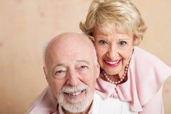 Senior Couple - Closeup Portrait Royalty Free Stock Photo