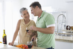 Senior Couple Communicating With Each Other Stock Photography