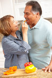 Senior couple cooking Stock Photos