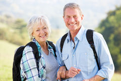 Senior couple on country walk Stock Photography