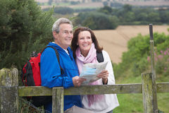 Senior Couple On Country Walk Royalty Free Stock Image