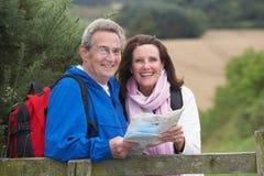 Senior Couple On Country Walk royalty free stock image