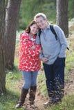 Senior Couple On Country Walk Through Woodland stock photos
