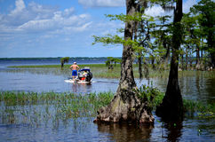 Senior Couple CraigCat Lake Waccamaw Royalty Free Stock Images