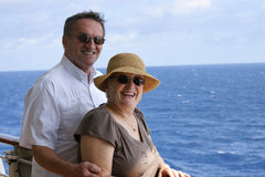 Senior couple on cruise Stock Image