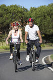 Senior Couple On Cycle Ride Together Stock Photography
