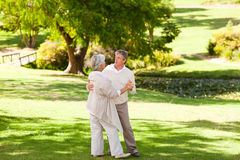 Senior couple dancing Stock Images