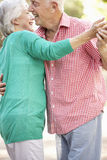 Senior Couple Dancing In Countryside Together Royalty Free Stock Photography