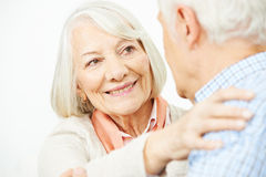 Senior couple dancing with each other Royalty Free Stock Image