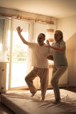 Senior couple dancing. Stock Image
