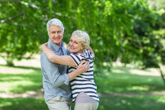 Senior couple dancing Stock Photography