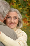 Senior couple dancing    in the park Stock Photo