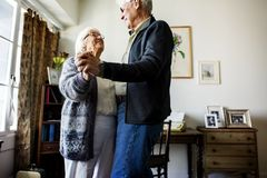 Senior couple dancing together romantic royalty free stock image