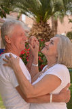 Senior couple dancing  on vacation Royalty Free Stock Photography