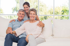 Senior couple with daughter Stock Photography