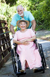 Senior Couple - Disability Royalty Free Stock Image