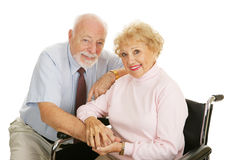 Senior Couple - Disability Royalty Free Stock Photo