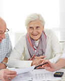 Senior couple discussing their Royalty Free Stock Image