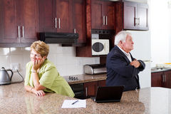 Senior couple divorce Stock Photo