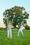 senior couple doing exercises Royalty Free Stock Images