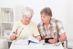 Senior couple doing their finances Stock Image