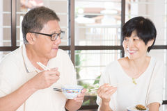 Senior Couple Eating Royalty Free Stock Photo