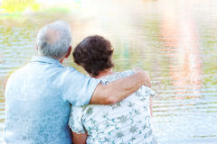 Senior couple embracing Royalty Free Stock Photo