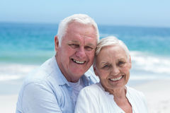 Senior couple embracing at the beach Royalty Free Stock Image