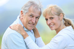 Senior couple embracing each other Stock Image