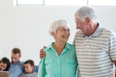 Senior couple embracing each other Stock Photography