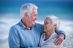 Senior couple embracing and looking at each other Stock Image