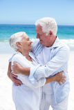 Senior couple embracing and looking to each other Stock Photography