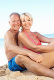 Senior Couple Enjoying Beach Holiday Royalty Free Stock Photo