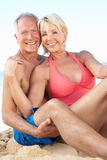 Senior Couple Enjoying Beach Holiday Stock Photography