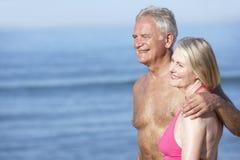 Senior Couple Enjoying Beach Holiday Royalty Free Stock Image