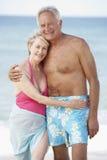 Senior Couple Enjoying Beach Holiday Stock Photo