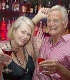 Senior Couple Enjoying Drink In Bar Stock Images