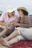 Senior Couple Enjoying Picnic Stock Photography