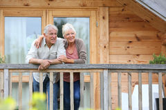 Senior couple enjoying their relaxing holidays Royalty Free Stock Photo