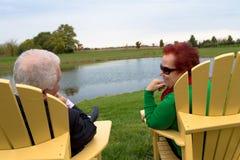 Senior Couple Enjoying Their Togetherness Stock Image